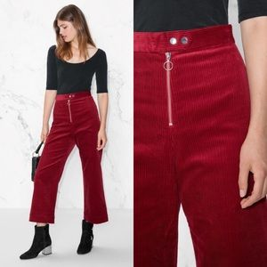 & Other Stories Red Corduroy Trouser ❤️